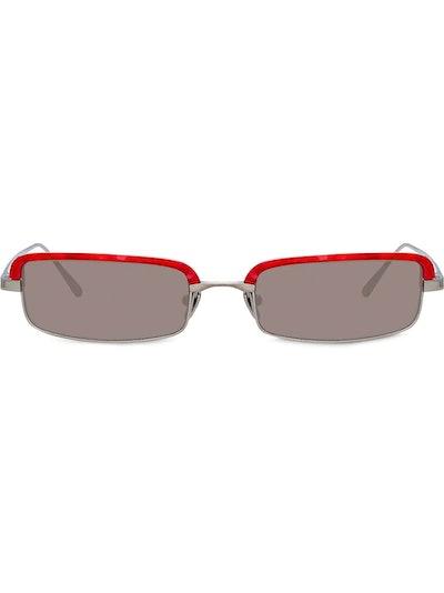 Leona rectangular frame sunglasses