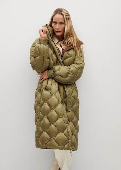 Long Quilted Down Anorak