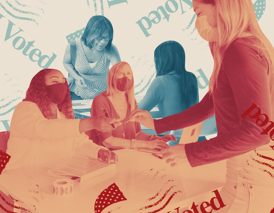 Women poll workers