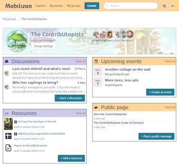 Mobilizon is a free alternative to Facebook for hosting events and groups.
