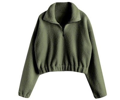 ZAFUL Half Zip Up Sweater