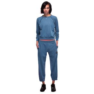 Blue Pique Sweatsuit SET