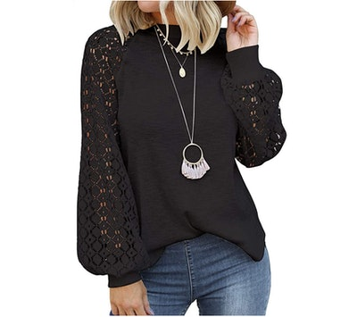 MIHOLL Lace Sleeve Blouse
