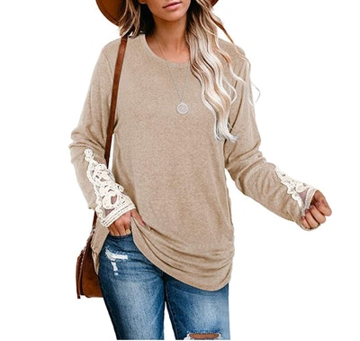 WIHOLL Ruched Tunic Top