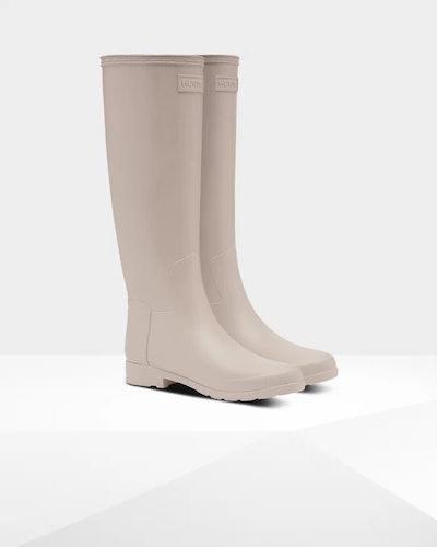 Women's Refined Slim Fit Tall Rain Boots: Draw Grey
