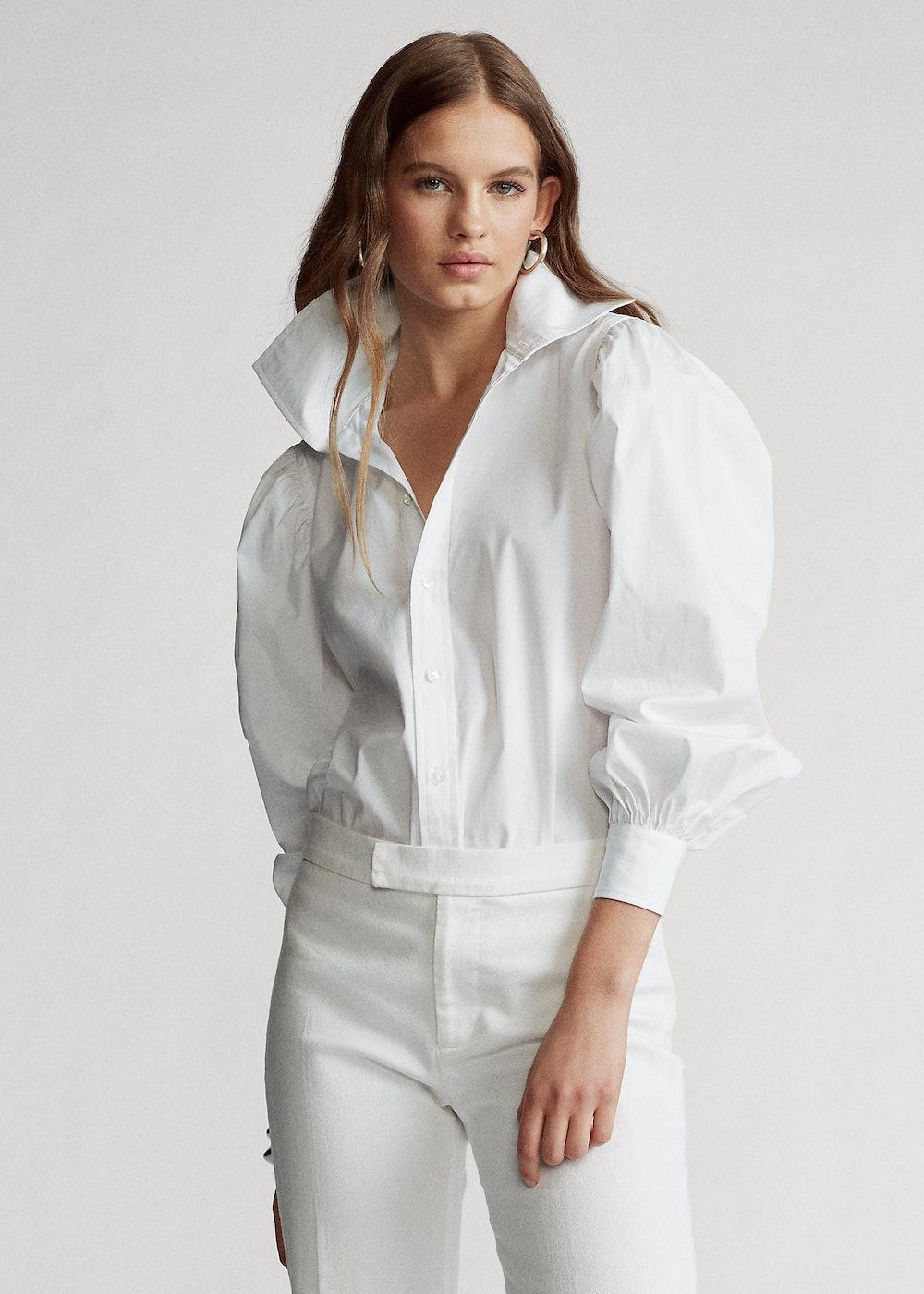 Oversize Cotton Broadcloth Shirt