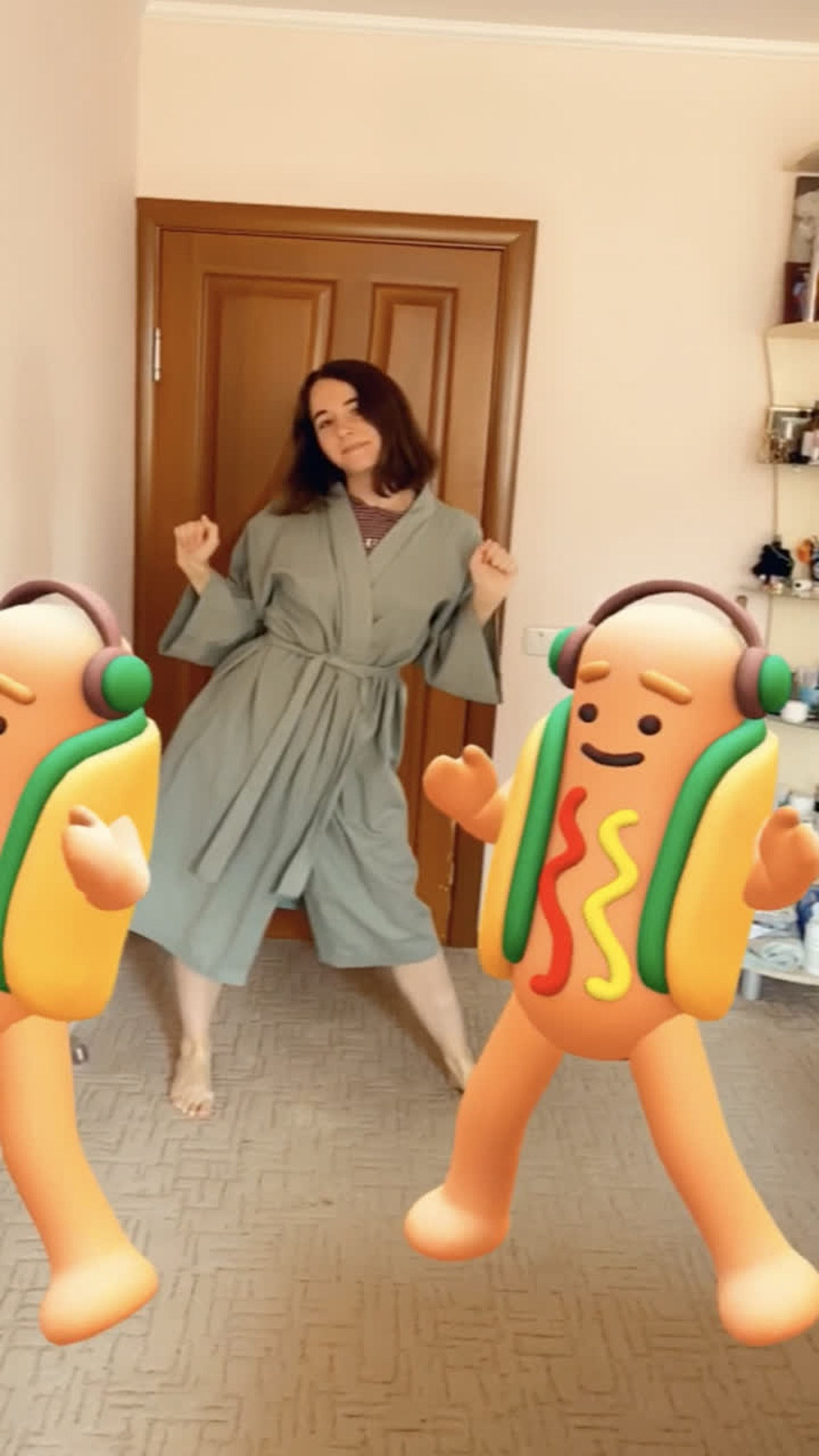 Snapchat's Halloween Lenses include an AR hot dog dance party.