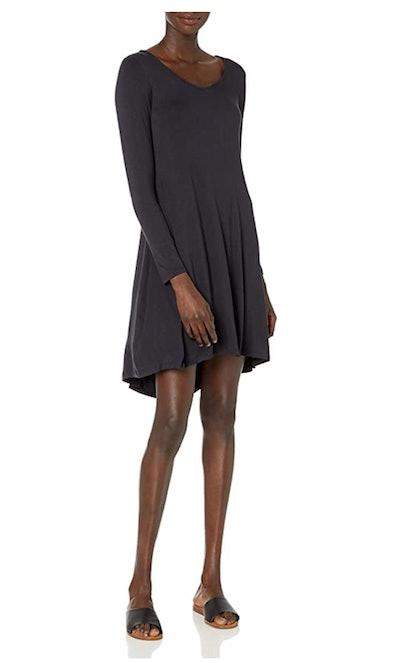 Daily Ritual Jersey Long-Sleeve V-Neck Dress