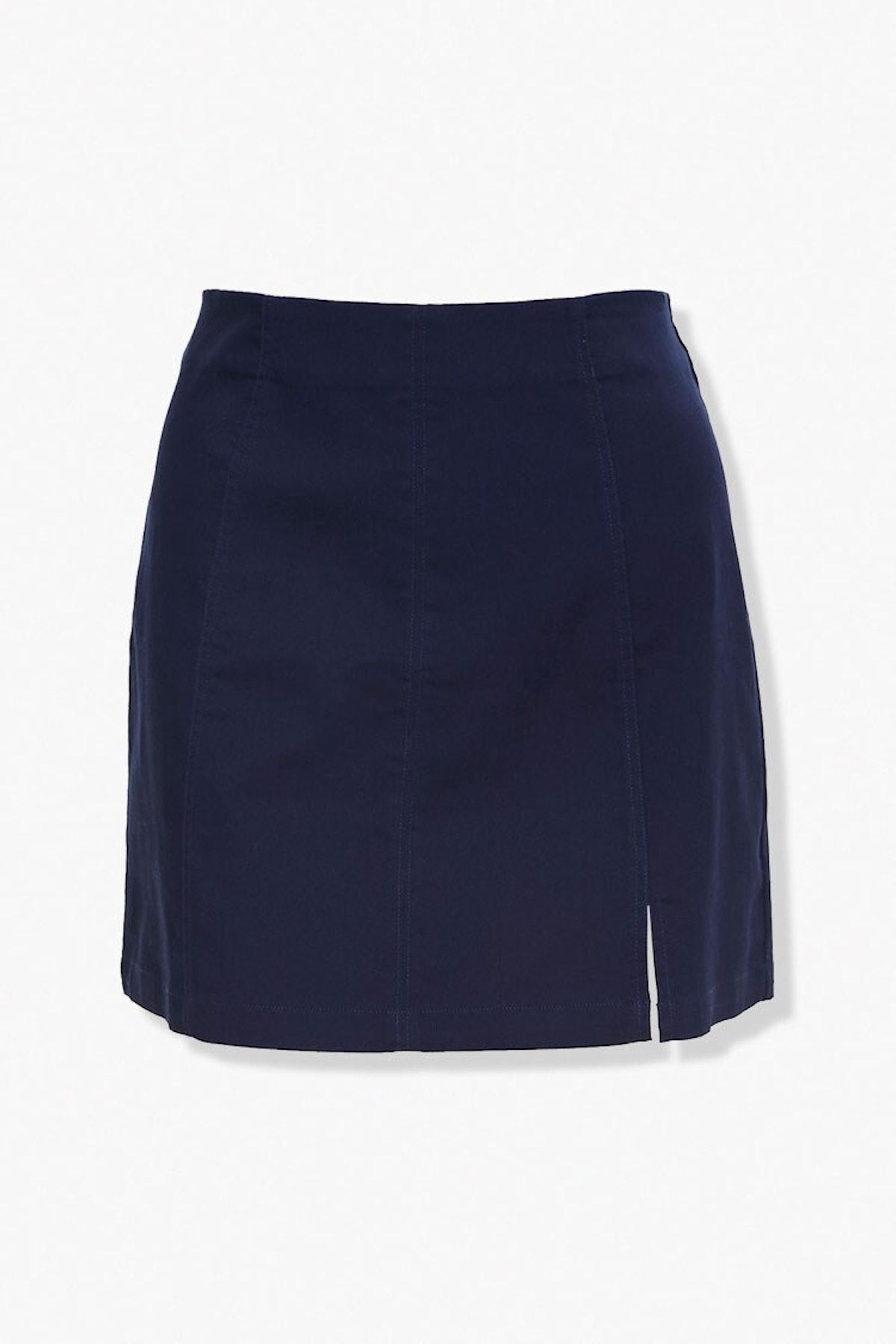 Forever 21 Plus Size Vented Mini Skirt