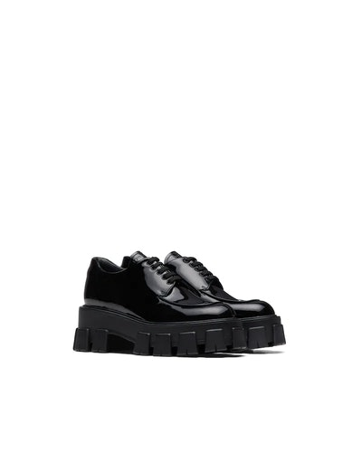 Monolith Patent Leather Lace-Up Shoes