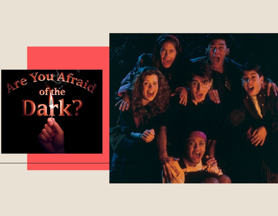 The title card and Midnight Gang from 'Are You Afraid of the Dark?'