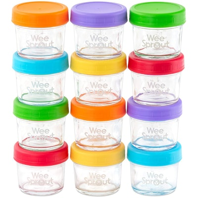 WeeSprout Glass Baby Food Storage Containers