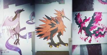Pokémon Legendary Birds Articuno Zapdos Moltres Sword and Shield Crown Tundra