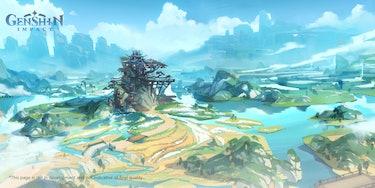 MiHoYo Genshin Impact Liyue Concept Art Wangshu Inn