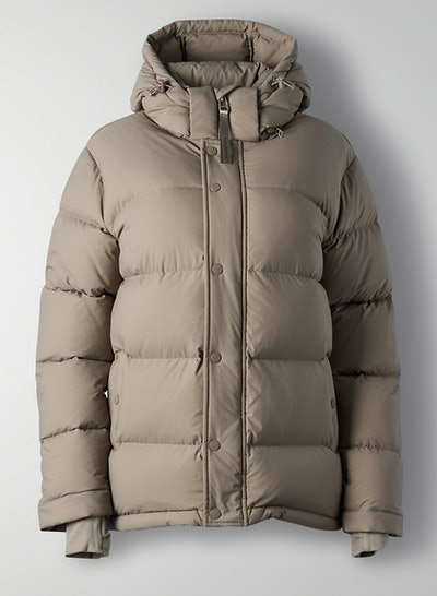 Goose-down puffer jacket