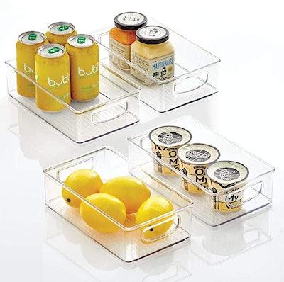 mDesign Kitchen Pantry Storage Bins (4-Pack)