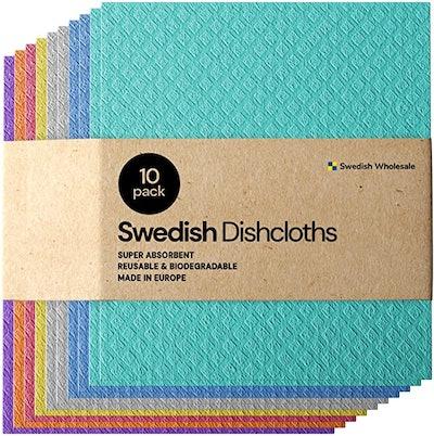 Swedish Dishcloth Sponge Cloths (10-Pack)