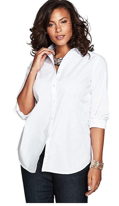 Roamans Women's Plus Size Long-Sleeve