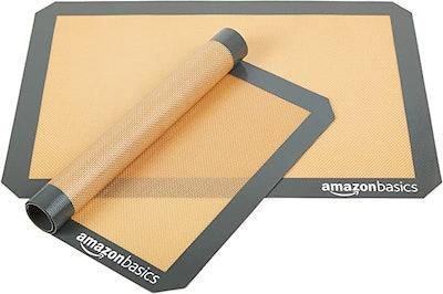 AmazonBasics Silicone Baking Mats (2-Pack)