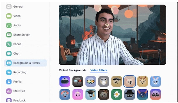 Zoom launched so many fun video filters in August.