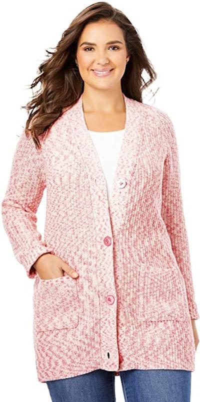 Woman Within Plus-Size Shaker Cardigan
