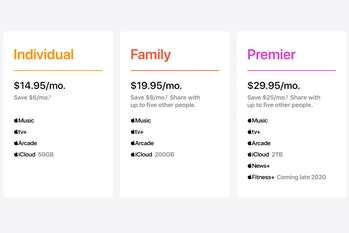 Apple One rolls up the company's various subscription services into one monthly bill.