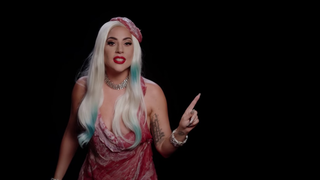 Lady Gaga revived her most iconic looks for a voting PSA video.