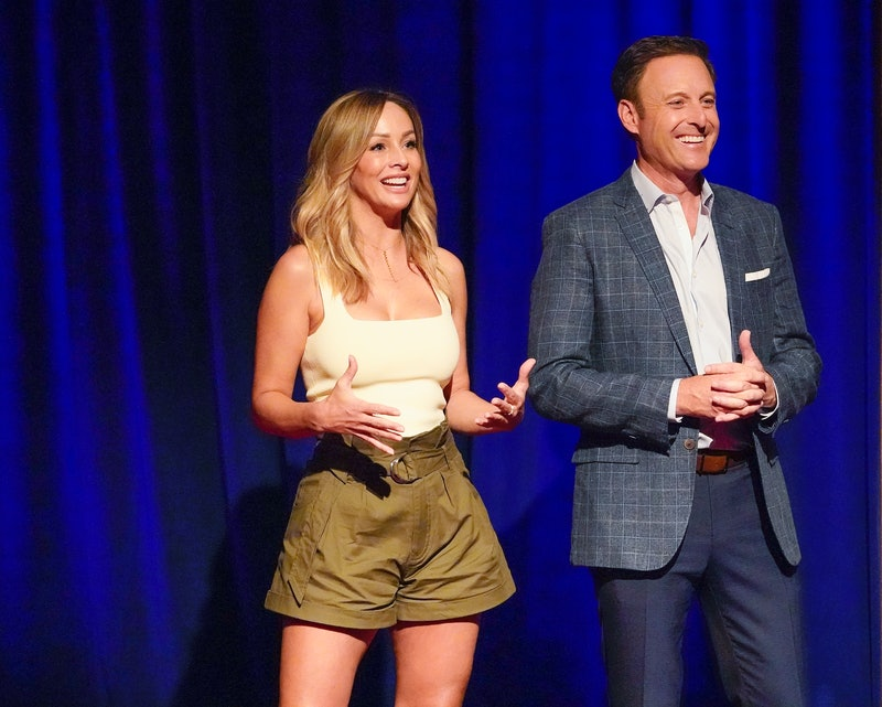 "Chris Harrison says Clare's men were ""cheated"" before introducing Tayshia as the new Bachelorette"