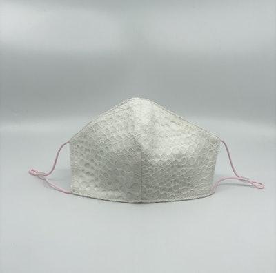 Ivory Lace Geometric Mask XS