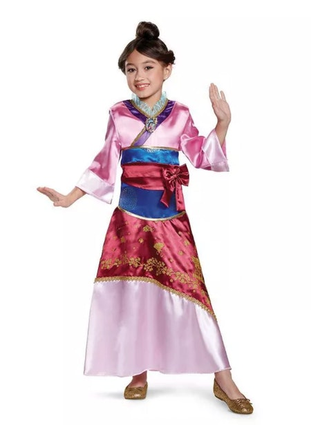 Kids' Deluxe Disney Princess Mulan Halloween Costume Dress