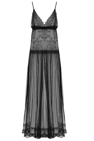 Boohoo Mesh and Lace Sheer Slip Dress