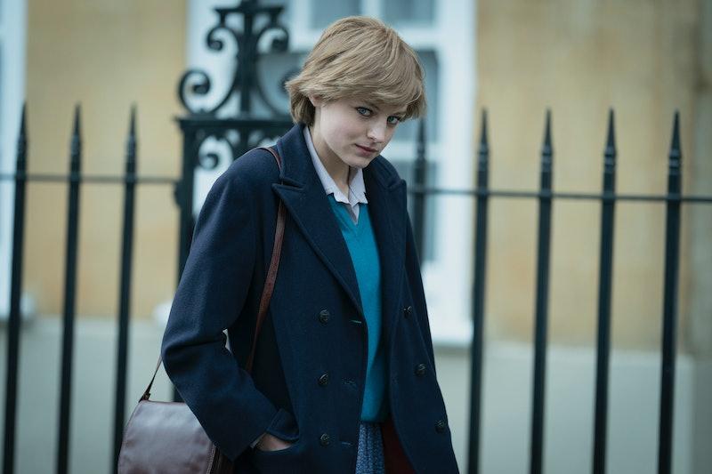 Emma Corrin stars as Princess Diana in The Crown Season 4.