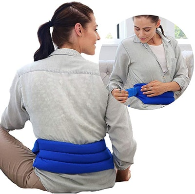 My Heating Pad Microwavable Back Pack with Full Waist Wrap