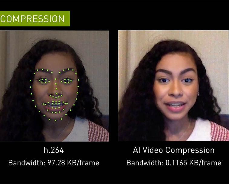 NVIDIA Maxine is a cloud-based suite of video chatting tools.