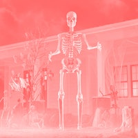 We talked to the people behind the 12-foot tall skeleton