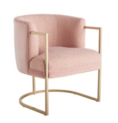 Cali Accent Chair, Soft Gold Metal