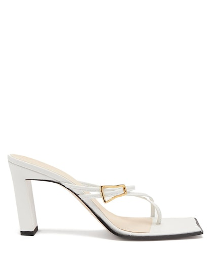 Buckled-Strap Leather Sandals