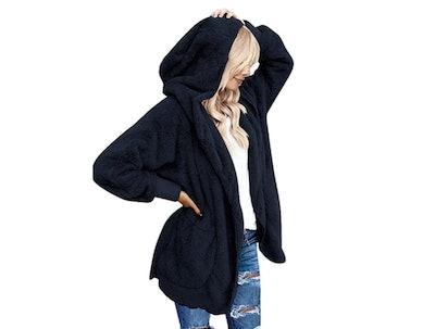 LookbookStore Women's Oversized Hooded Coat