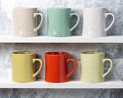 Comfify Ceramic Vintage Coffee Mugs (Set of 6)
