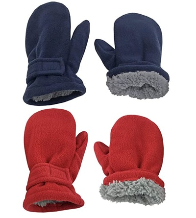 N'Ice Caps Sherpa Lined Fleece Mittens (2-Pack)
