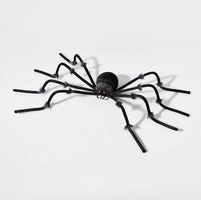 Large Black Plush Spider Halloween Decorative Prop