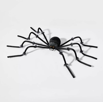 Large Black Plush Spider Halloween Decorative Prop