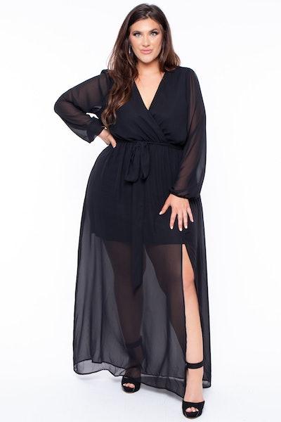 Curvy Sense Plus Size Isis Sheer Maxi Dress