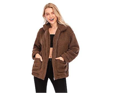 Comeon Women's Fuzzy Coat