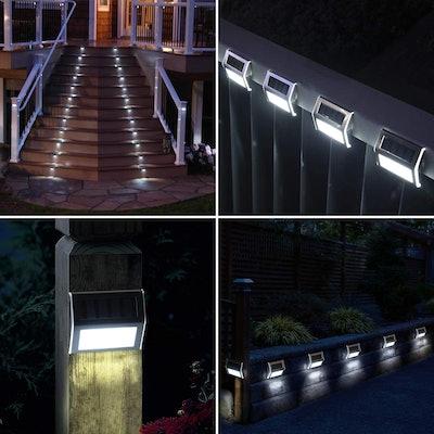 GIGALUMI Solar Deck Lights (6-Pack)