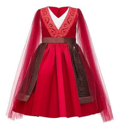 Girls Mulan Disney-Inspired Princess Dress