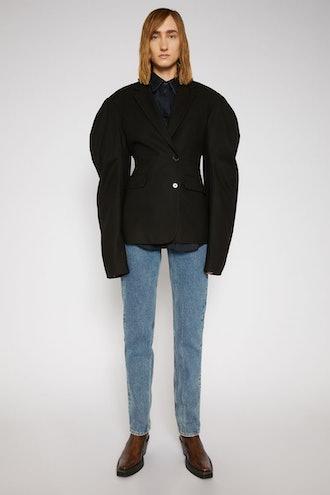 Puff-Sleeve Suit Jacket