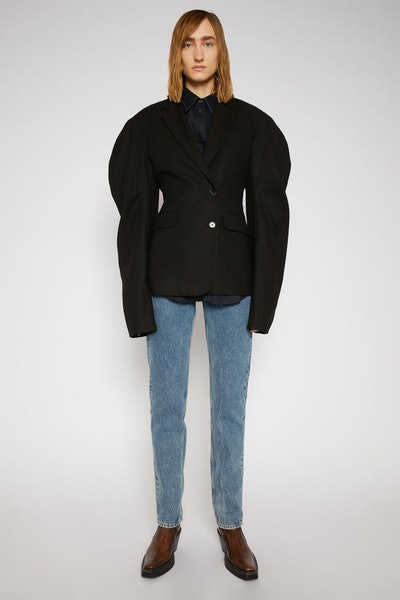 Puff-Sleeve Suit Jacket