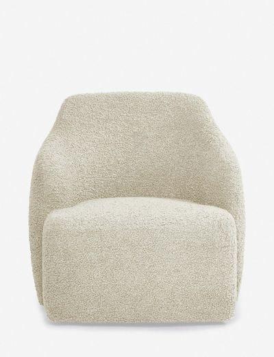 Tobi Swivel Chair, Cream