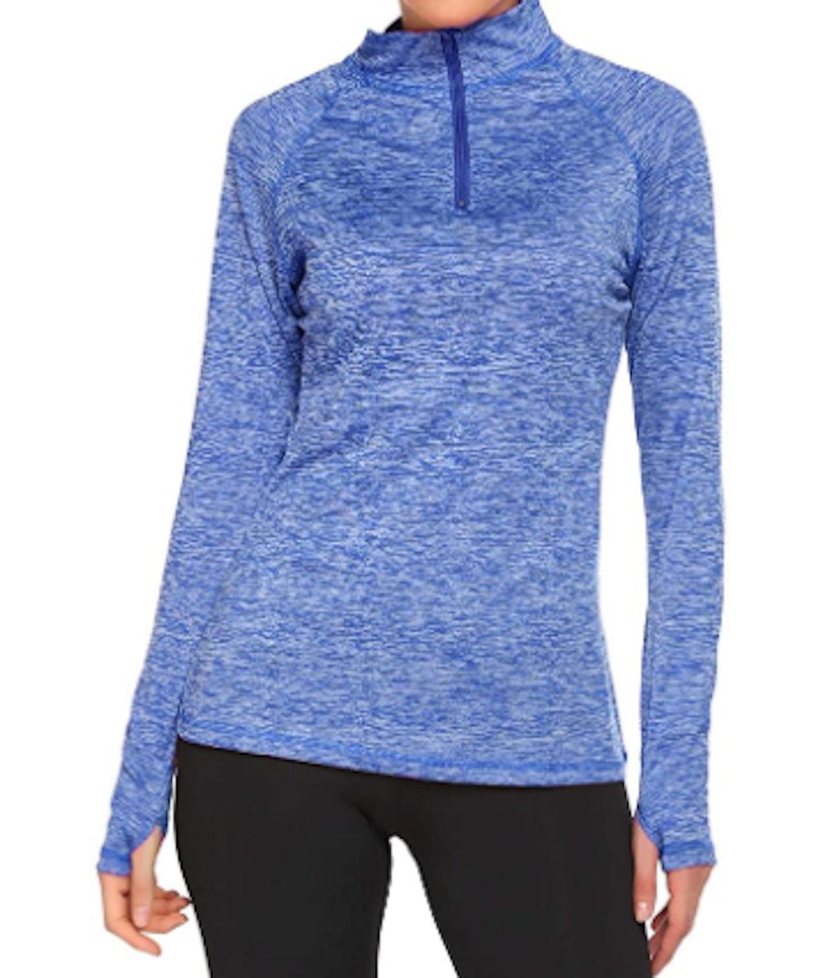 Elesol Half-Zip Pullover Workout Shirt